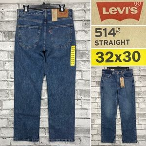 NWT Levis 514 Straight 32 x 30 Medium Wash Jeans